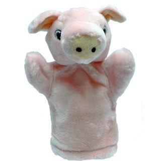 Títere Plush Pups Chico Cerdito